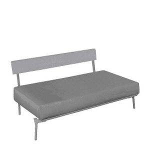 contemporary upholstered bench / leather / with backrest / exterior