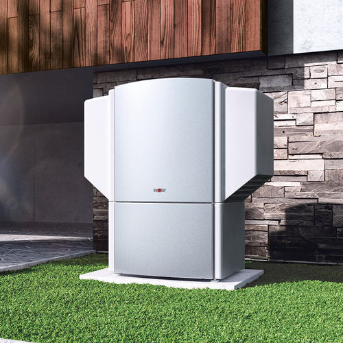 air/air heat pump / residential / outdoor / with water heater