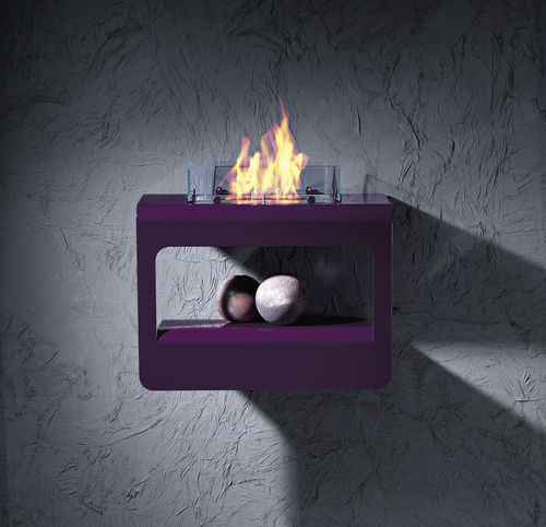 bioethanol fireplace / contemporary / open hearth / wall-mounted