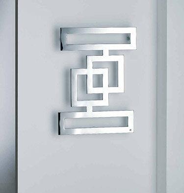 hot water radiator / metal / original design / wall-mounted