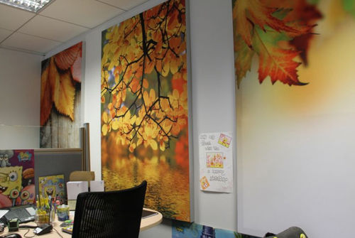 interior acoustic panel / for ceilings / for partition walls / wall
