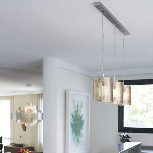 Pendant lamp / contemporary / stainless steel / LED TRILOGIE ELLIPSE N°14 Thierry Vidé Design