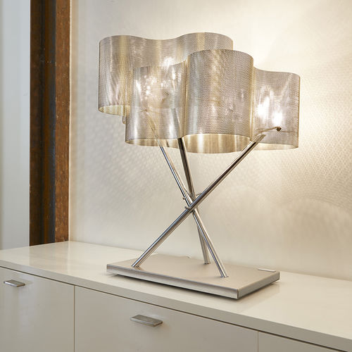 Table lamp / contemporary / polished stainless steel / LED NUAGE N°33 Thierry Vidé Design