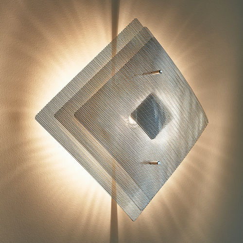 Contemporary wall light / polished stainless steel / halogen / square ECLIPSE N°8A Thierry Vidé Design