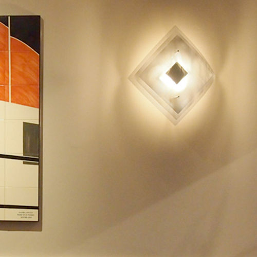 Contemporary wall light / polished stainless steel / LED / halogen ECLIPSE N°8B Thierry Vidé Design