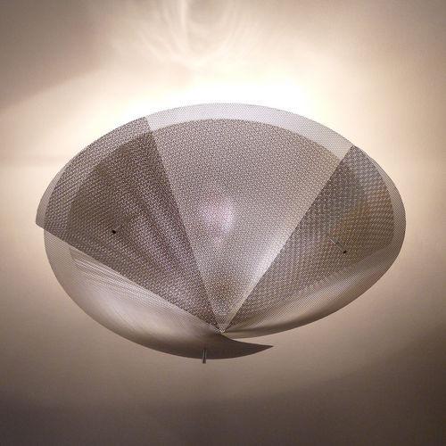 Contemporary ceiling light / round / stainless steel / halogen ÉTOILE N°20 Thierry Vidé Design