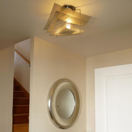 Contemporary ceiling light / stainless steel / LED / halogen ÉCLIPSE N°8B Thierry Vidé Design
