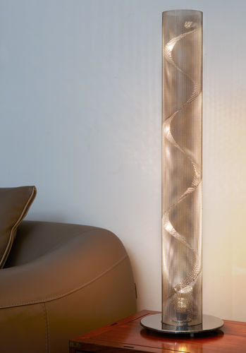 Table lamp / contemporary / stainless steel / LED SPIRALE N°3 Thierry Vidé Design