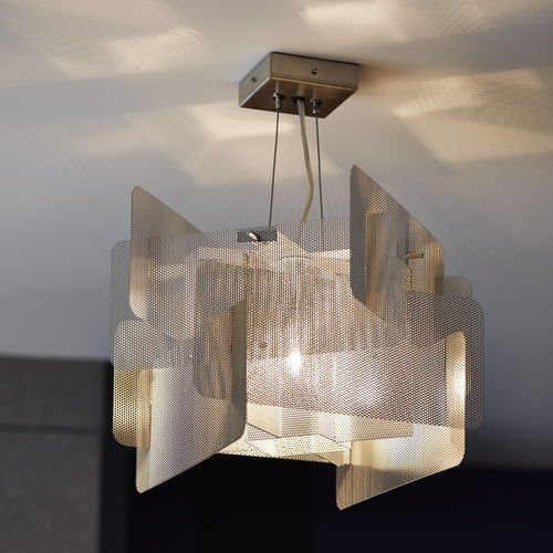 Pendant lamp / contemporary / stainless steel / LED CUBE N°28 Thierry Vidé Design
