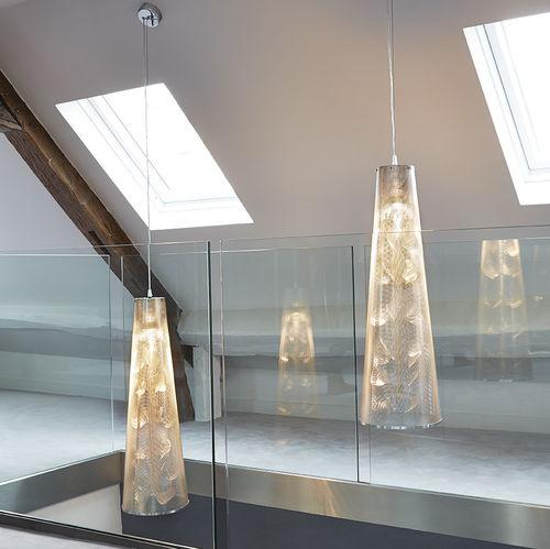 Pendant lamp / contemporary / stainless steel / halogen FLORALE N°24 Thierry Vidé Design