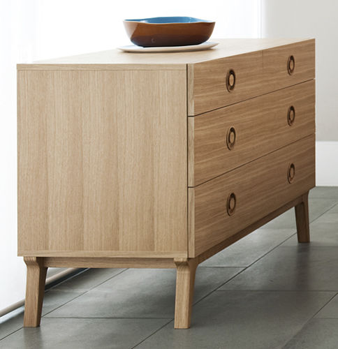 Contemporary chest of drawers / oak / walnut / solid wood VALENTINE by Matthew Hilton case