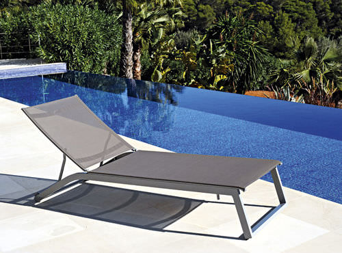 contemporary sun lounger / aluminum / garden / pool