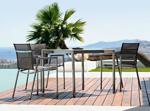 Contemporary chair / stackable / with armrests / stainless steel OCEAN CLUB by Schweiger&Viererbl RAUSCH Classics GmbH