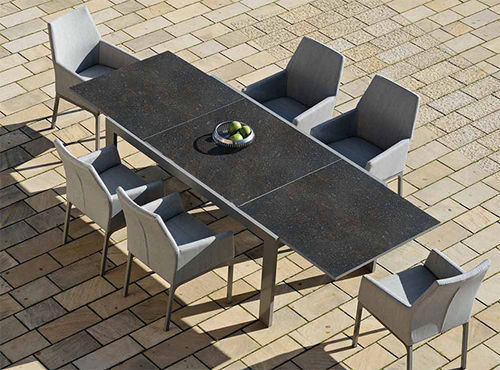 Dining table / square / rectangular / outdoor LONG BEACH by Erich Wimberger RAUSCH Classics GmbH
