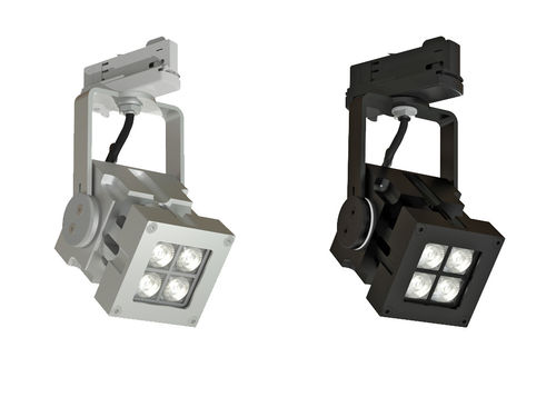 LED track light / square / aluminum / commercial REVO COMPACT TRACK DMX CLS LED