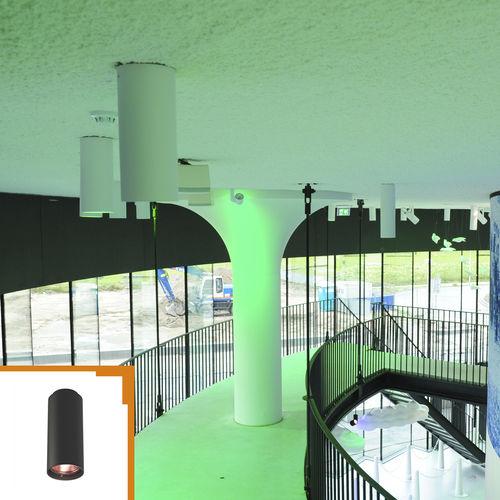 surface-mounted light fixture / RGBW LED / round / aluminum