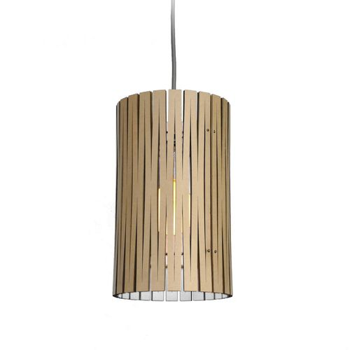 pendant lamp / contemporary / steel / wooden