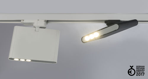 LED track light / rectangular / extruded aluminum / commercial VIMA by Serge Cornelissen HALLA
