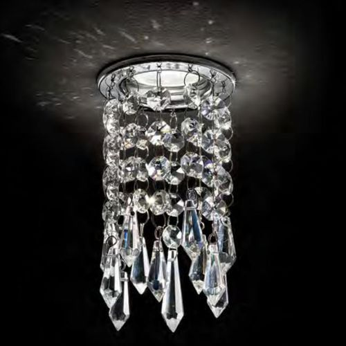 recessed downlight / halogen / round / crystal
