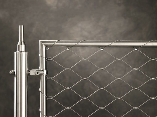 stainless steel railing / cable / indoor / outdoor