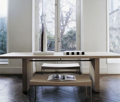 contemporary dining table / oak / solid wood / rectangular