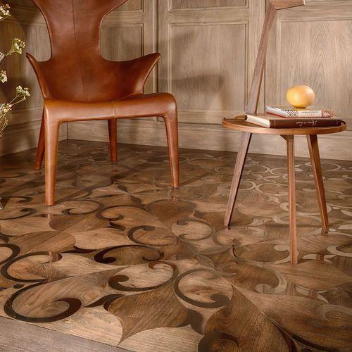 solid parquet floor / glued / oak / walnut