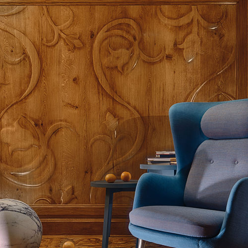 wood decorative panel / wall-mounted / wall / cladding