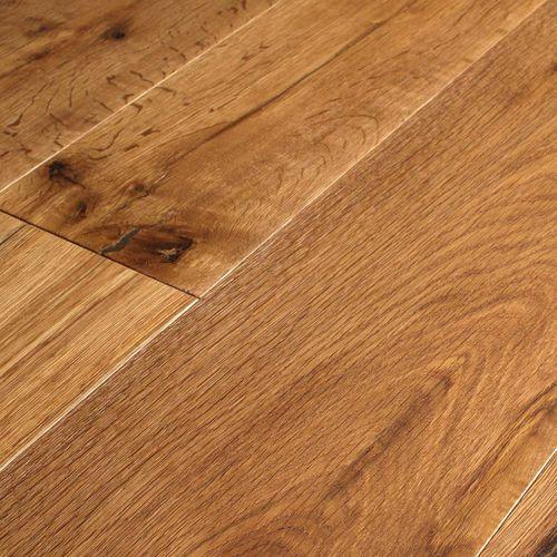 engineered parquet floor / glued / oak / natural oil finish