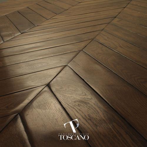engineered parquet floor / glued / oiled
