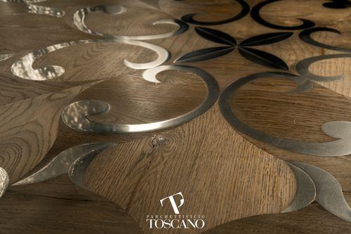 Solid parquet flooring / glued / oak / oiled LUSITANIA (014) Parchettificio Toscano Srl