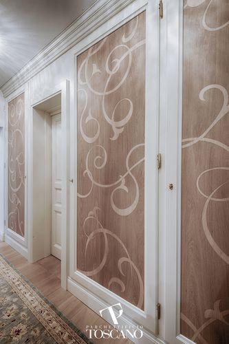 wood decorative panel / wall-mounted / printed