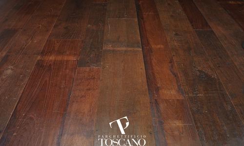 engineered parquet floor / glued / teak / oiled
