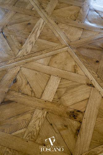 solid parquet floor / glued / oiled / wood inlaid
