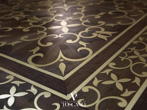 solid parquet floor / glued / walnut / oiled