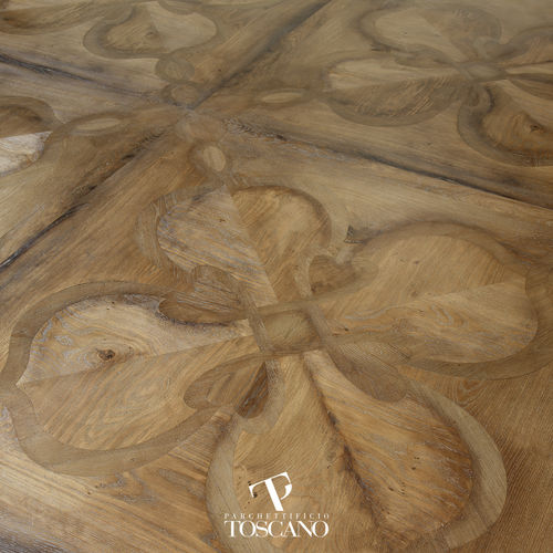 Solid parquet flooring / oiled / wood inlaid CALANDRINO (080) Parchettificio Toscano Srl