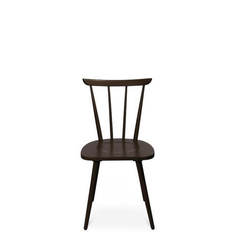 contemporary visitor chair / wooden / black / brown