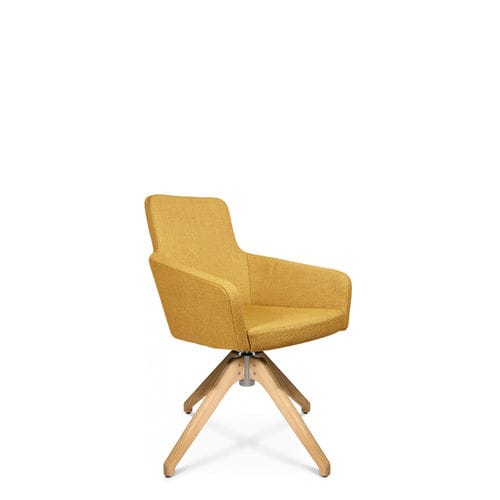 contemporary visitor armchair / fabric / with armrests / upholstered