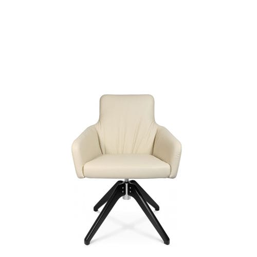 Contemporary visitor armchair / leather / with armrests / upholstered W-CUBE 1 CL Wagner - Eine Marke der Topstar GmbH