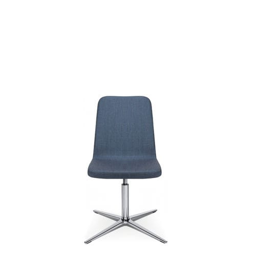 contemporary visitor chair / upholstered / star base / fabric