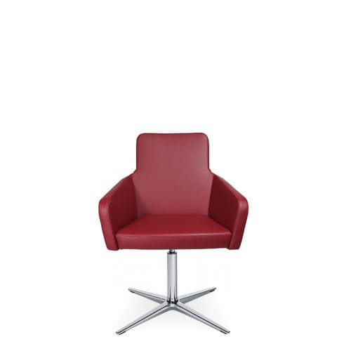 Contemporary visitor armchair / fabric / leather / with armrests W-CUBE 1 C Wagner - Eine Marke der Topstar GmbH
