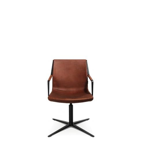 Contemporary visitor chair / with armrests / upholstered / star base W-CUBE 3 Wagner - Eine Marke der Topstar GmbH