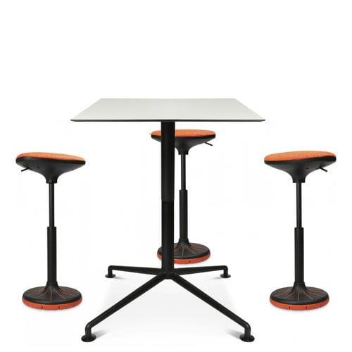 Fabric task stool / leather / plastic / swivel W3 Wagner - Eine Marke der Topstar GmbH