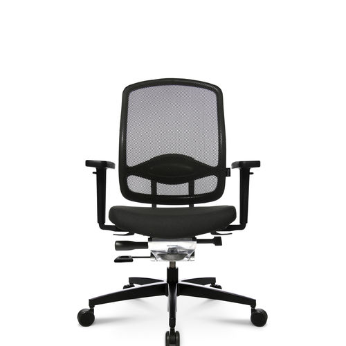 Contemporary office armchair / mesh / leather / aluminum ALUMEDIC 5 Wagner - Eine Marke der Topstar GmbH