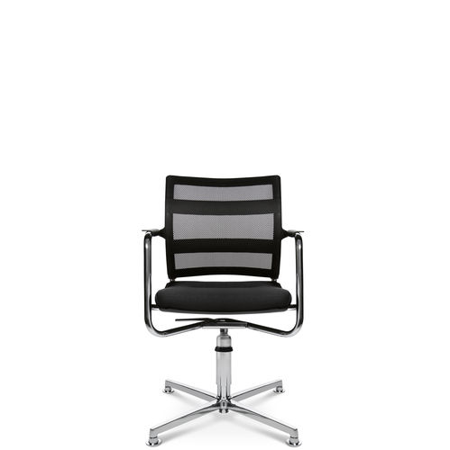 Contemporary visitor chair / with armrests / upholstered / star base ERGOMEDIC 110-1 3D Wagner - Eine Marke der Topstar GmbH