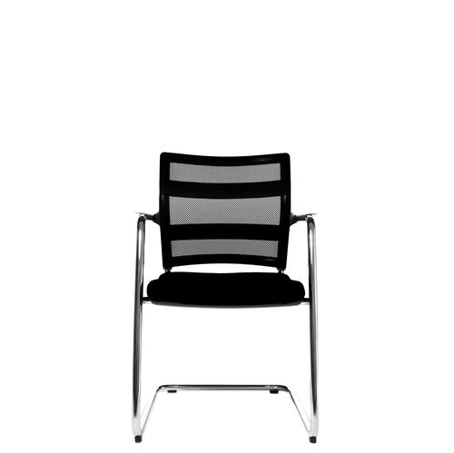 Contemporary visitor chair / with armrests / upholstered / cantilever ERGOMEDIC 110-1 Wagner - Eine Marke der Topstar GmbH