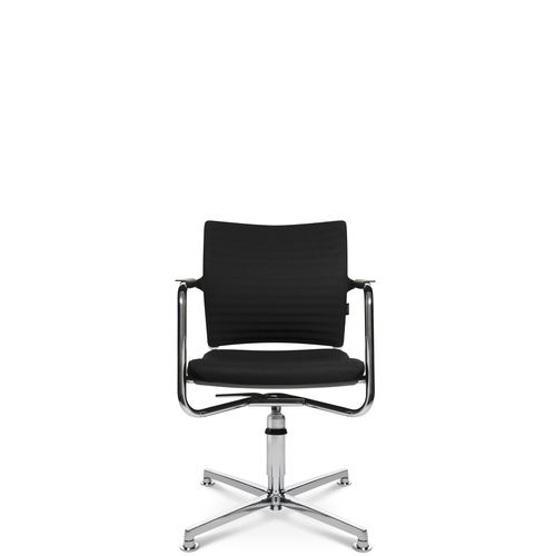 Contemporary visitor chair / with armrests / upholstered / star base TITAN 20 3D VISIT Wagner - Eine Marke der Topstar GmbH
