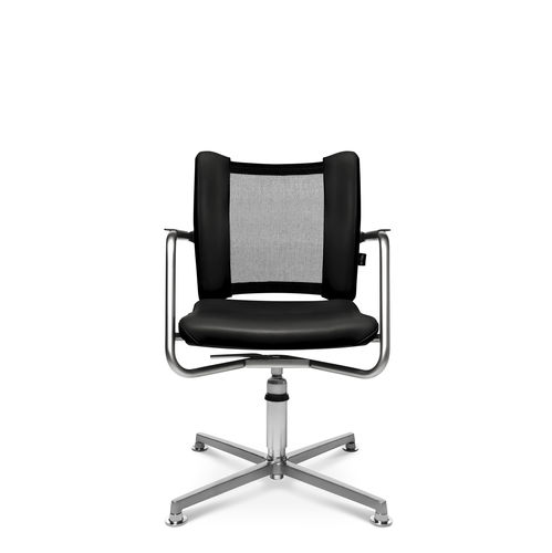 Contemporary visitor chair / with armrests / upholstered / star base TITAN LIMITED 3D VISIT Wagner - Eine Marke der Topstar GmbH