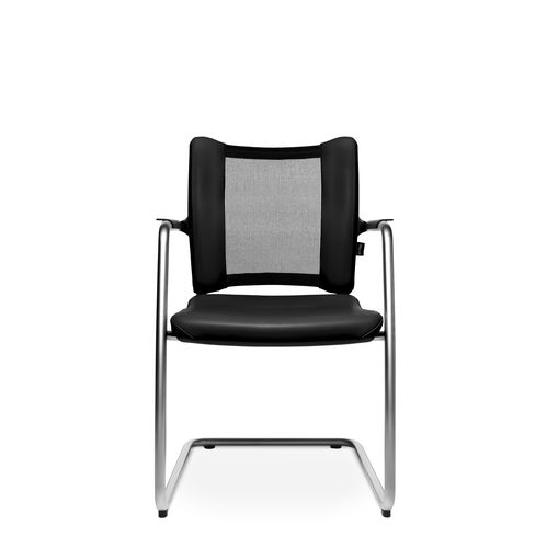 Contemporary visitor chair / with armrests / upholstered / cantilever TITAN LIMITED VISIT Wagner - Eine Marke der Topstar GmbH