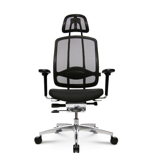 Contemporary office armchair / mesh / leather / aluminum ALUMEDIC 10 Wagner - Eine Marke der Topstar GmbH