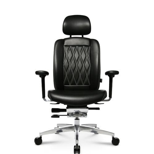 Contemporary office armchair / leather / aluminum / on casters ALUMEDIC LIMITED S COMFORT Wagner - Eine Marke der Topstar GmbH